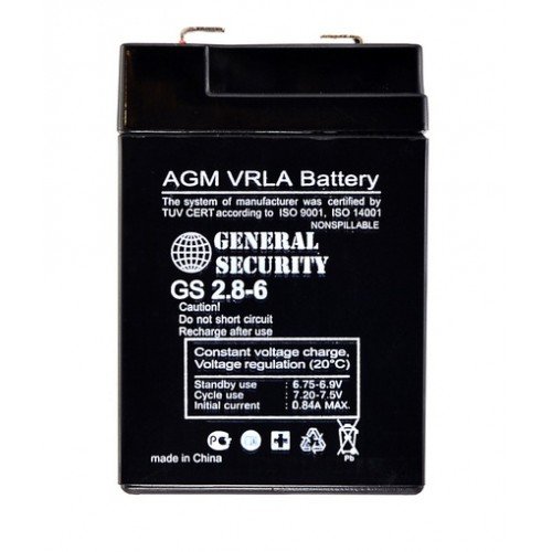 GS 2,8-6 - аккумулятор General Security 2.8ah 6V